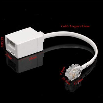 Electronics Plug & Adaptors - BT Socket to RJ11 Plug 4 Pin Telephone Phone Cable Adaptor Converter - 1 x BT To RJ11 Adaptor with Cable ()