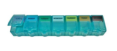 Adult Lock 7 Day Pill - Ezy Dose 2XL Universal PushÕn Pop Pill Reminder, Green, 1-Pack