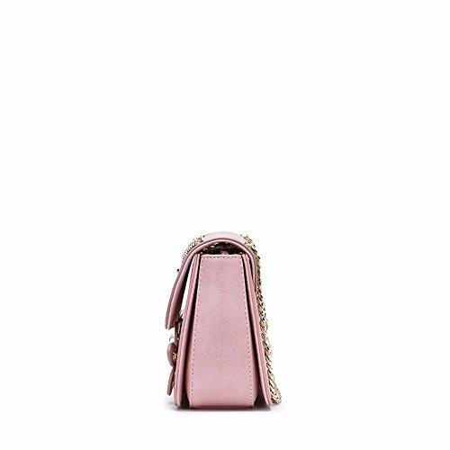 Single Fashion New Pink Bag Women's Jog Chain Shoulder gules 2018 Bag Across Summer Style z0O6xwxn