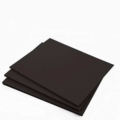 Gmund Colors Matt Licorice Black Cardstock - 12 x 12, 130lb Cover, 25 pack