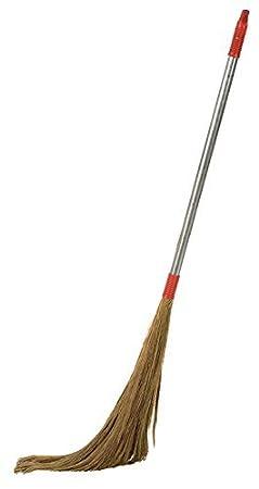 Navisha Steel Handle Eco Friendly Soft Grass Floor Broom Stick For Floor Cleaning (Phool Jhadu )