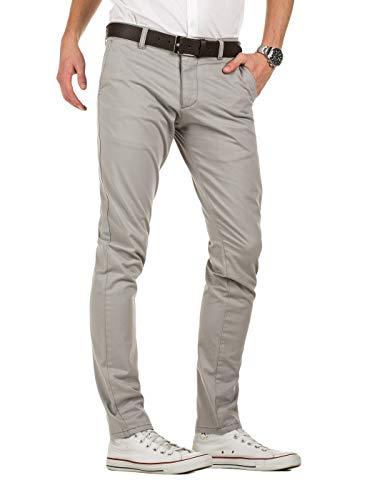 grey Con Dustin Gris Chinos Yazubi Hombre 173802 Gull Pantalones Cinturón wB0vtHq
