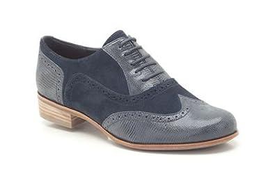 Womens Clarks Hamble Oak Navy Blue Combi Suede Casual Shoes