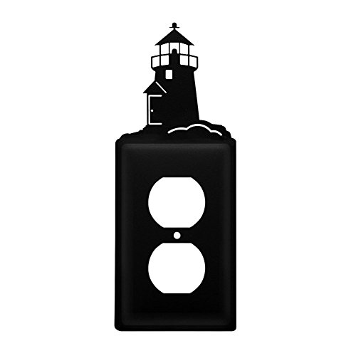 Lighthouse Iron Switchplate (Iron Lighthouse Outlet Cover - Heavy Duty Metal Light Switch Cover, Electrical Outlet Covers, Lightswitch Covers, Wall Plate Cover)