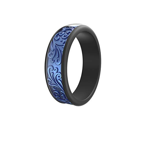Come with a Metal Box All Black Rubber Wedding Ring 3 Pack Comfortable Fit Ikonfitness Silicone Wedding Ring for Men and Women