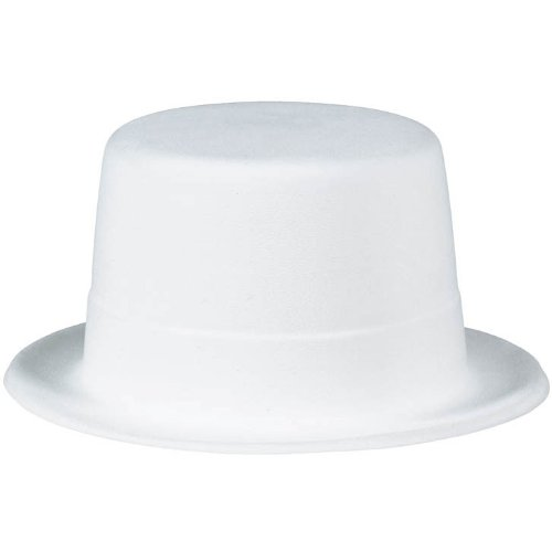 Amscan Glamorous 20's Old Hollywood Themed Party Felt Top Hat Accessories (1 Piece), White, 4.3 x (Hollywood Movie Costume And Props)