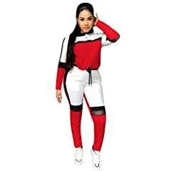 FGDJEE STYLE DESTINATION  2 piece outfit with track pants and the tops are perfect for pre-workout warm-ups or running errands after the gym, make your comfortable and elegant choice at FGDJEE.  Take a look at the SIZE CHART(Measure around th...