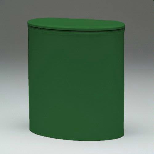 Redmon European Edition Vinyl Oval Hamper, Green - European Oval Laundry Hamper