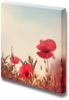 Vintage Style Poppy Flowers Wall Decor