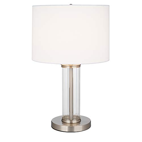 Ravenna Home Contemporary Glass Cylinder Table Lamp, 21