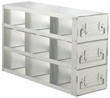 Alkali Scientific UFD-333 Stainless Steel Cryostorage Box Drawer Rack for 3