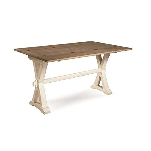 BOWERY HILL Drop Leaf Console Table in Terrace Gray and Washed Linen by BOWERY HILL
