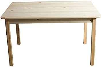 Mesa 100 x 70 cm, madera de pino maciza, color: natural: Amazon ...