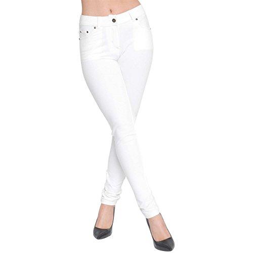 AK UK Leggings Womens Jeggings Jeans Stretchy Plus Denim White Size Trousers Pants Skinny Apparel Ladies Fit qY74URqr