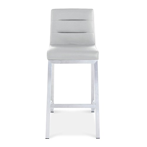 Zuri Furniture Lynx Counter Height Contemporary Bar Stool with Metal Base - ()
