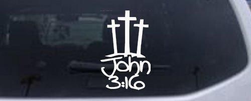 Crosses John Christian Window Sticker