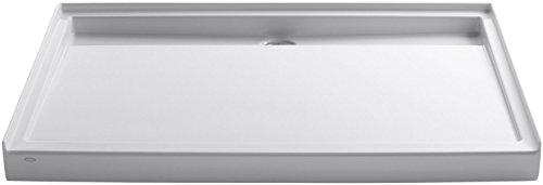 Kohler K-9996-0 Groove Acrylic Receptor 60-Inch by 42-Inch, Back Drain, White - Acrylic Receptor