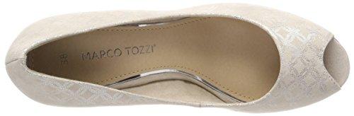 Marco Tozzi Women's 29302 Open Toe Heels, Black, 4 UK Beige (Dune Metallic 412)