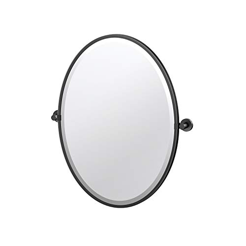 Gatco Glam Framed Oval Mirror, 27.5-inch, Matte -