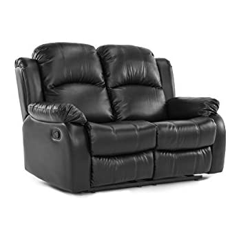 Classic Double Reclining Loveseat - Bonded Leather Living Room Recliner (Black)  sc 1 st  Amazon.com & Amazon.com: Coaster Home Furnishings 600282 Casual Motion Loveseat ... islam-shia.org