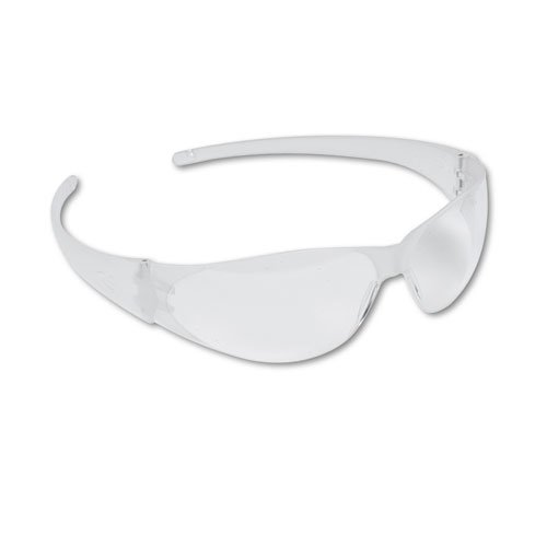 Checkmate Wraparound Safety Glasses, CLR Polycarb Frm, Uncoated CLR Lens, 12/Box, Sold as 12 - Clear Frm Lens