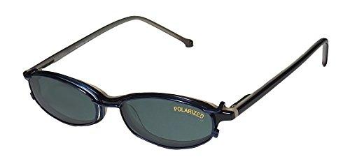 [Smart Clip 915 Mens/Womens Rxable Hot Style Oval Full-rim Flexible Hinges Sunglass Lens Clip-Ons Eyeglasses/Spectacles (48-17-140,] (Morpheus Costumes Sunglasses)