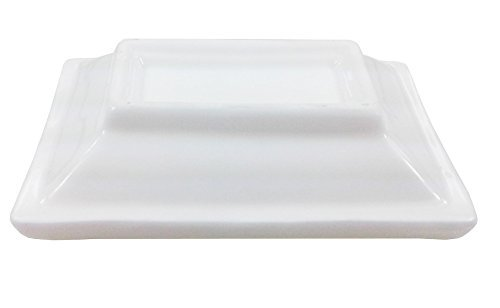 4'' White Rectangular Porcelain Sauce Dish - Great for Soy Sauce, Wasabi, Hot sauce (3 DZ)