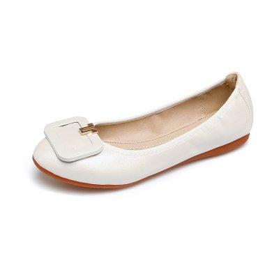 Blanco Torta Redonda Cómodos Fondo Zapatos Rollos Zapatos Zapatos Blando GAOLIM Embarazada De Cabeza Volumen De Fondo Huevo De De Soja Plano Grandes Astilleros Zapatos R5wgSfAq