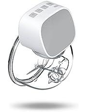 skrskr Extractor de Leche eléctrico portátil, silencioso, Invisible, Manos Libres, Extractor de Leche, 2 Modos, 5 Niveles, Ajustable con Brida de 27 mm para Viajes en casa
