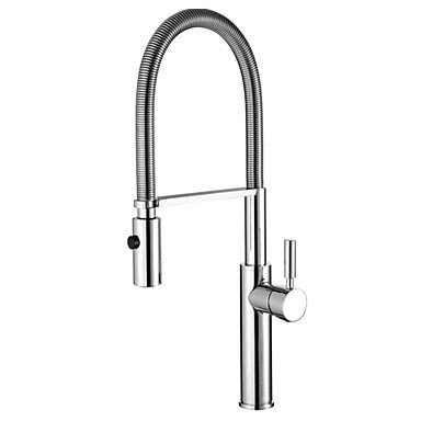 Fashion Brass Pull-out/Pull-down 360 Degree Rotatable Kitchen Faucet - Silver by ZHENG