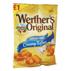 Werther's Original Sugar Free Creamy Toffees (Pack of 12)