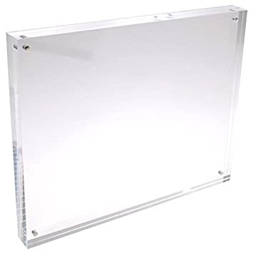 6x8 clear acrylic picture frame double sided 20 thicker 095 inch
