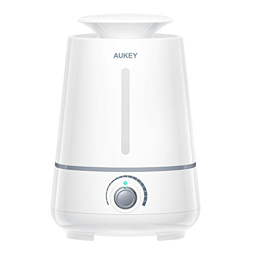 AUKEY Humidifier, 3.5L Ultrasonic Cool Mist Aroma Humidifier, Waterless Auto Shut-off and Adjustable Mist Mode for Home, Office