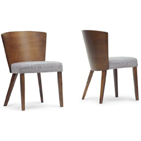 Baxton Studio Sparrow Wood Modern Dining Chair Brown Set Of 2