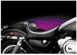 Le Pera Daytona Sport Vinyl Seat for 1982-2010 Harley Davidson Sportster Models - Color : Black - Size : HD XL883C Sportster 883 Custom 2004-2006