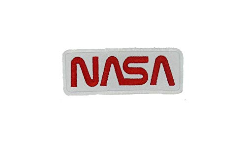 NASA White/Red WORN Astronaut Shuttle SPACE PROGRAM Halloween costume Jacket Shirt Hat Cap Embroidered Patch Easy Iron On