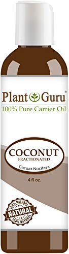 Fractionated Coconut Oil 4 oz 100% Pure MCT Natural Carrier - Skin, Face, Body, Massage and Hair Growth Moisturizer, Great for Diluting Aromatherapy Essential Oils -