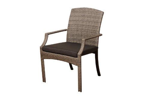 Amazonia Teak Boise 9-Piece Teak/Wicker Extendable Rectangular Dining Set with Grey Cushions للبيع