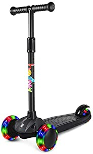 BELEEV Scooters for Kids, 3 Wheel Scooter for Toddlers Girls and Boys, Kick Scooter with 4 Adjustable Height,