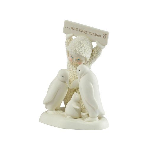 Department 56 Snowbabies And Baby Makes 3 Figurine