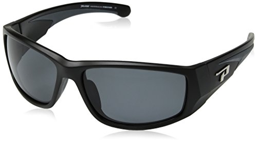 Pepper's Big Horn Polarized Oval Sunglasses, Matte Black, 64 mm