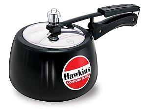 Hawkins Contura Black Hard Anodized Pressure Cooker (1.5 Litre Code:CB15)