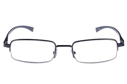 4de509aea7b Amazon.com  Foster Grant Alumin Eyes Gunmetal AL 27 +1.25 Men s Reading  Glasses  Health   Personal Care