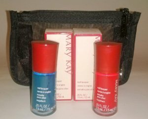 Mary Kay Hollywood Mystique ~ Radiant Red & Tempting Teal Nail Lacquer Polish - Kay Nail Color Mary