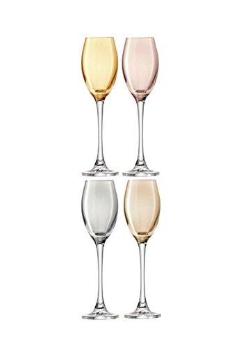 LSA Polka Metallics Assorted Set of 4 Sherry Glasses 70ml