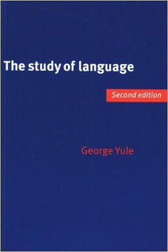 study of language george yule 2nd edition
