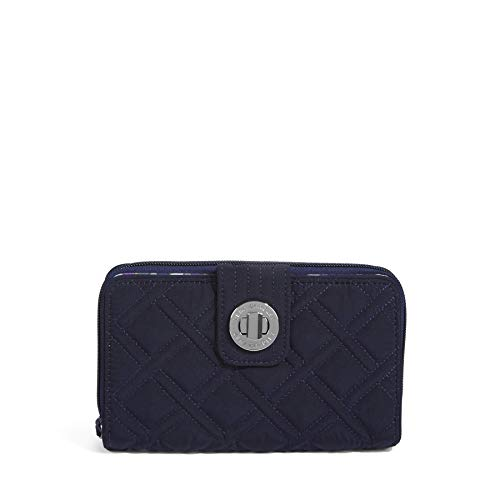 Vera Bradley Turnlock Wallet, Classic Navy, One Size