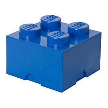 Charmant LEGO Storage Brick 4, Blue