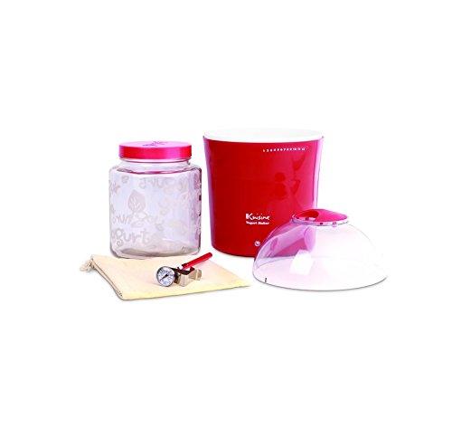 EuroCuisine 2 Quart Yogurt and Greek Yogurt Maker, Red EuroCusine YM460