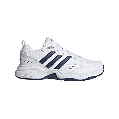 adidas Men's Strutter Cross Trainer, White/Black, 7.5 M US